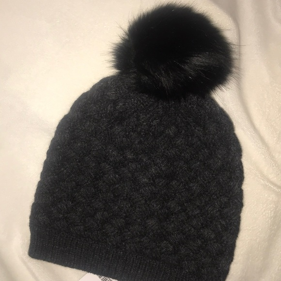 4d14babc65df J. Crew Knit Hat with Faux Fur Pom-Pom